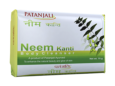 Patanjali Kanti Neem Herbal Body Soap 75 gm - Buy Online