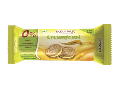 PATANJALI CREAMFEAST LEMON BISCUIT