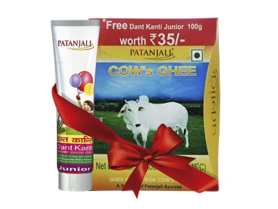 PATANJALI COW'S GHEE-500gm(FREE DANT KANTI JUNIOR-100gm)