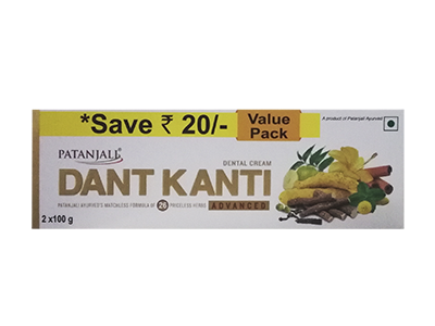 DANT KANTI DENTAL CREAM (ADV) 2X100-GM