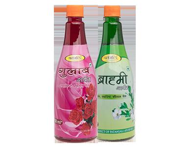 PATANJALI HEALTH DRINK COMBO ( GULAB SHARBAT + BRAHMI SHARBAT)