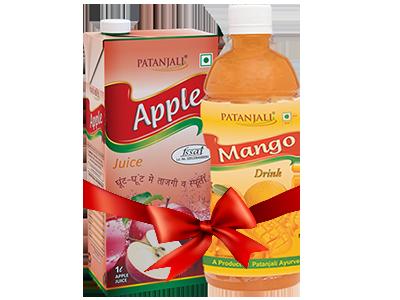PATANJALI FRUIT BEVERAGES COMBO ( MANGO DRINK 500Ml  + APPLE JUICE 1Ltr)