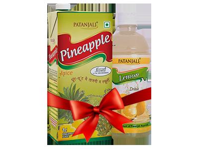 PATANJALI FRUIT BEVERAGES COMBO ( PINEAPPLE JUICE 1Ltr + LEMON DRINK 500Ml)