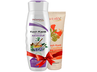 PATANJALI SHAMPOO & CONDITIONER COMBO ( HAIR CLEANSER ANTI DANDRUFF+ HAIR CONDITIONER COLOUR PROTECTION )