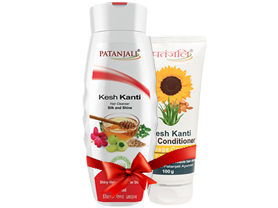 PATANJALI SHAMPOO & CONDITIONER COMBO ( HAIR CLEANSER SILK & SHINE+ HAIR CONDITIONER DAMAGE CONTROL)