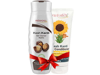 PATANJALI SHAMPOO & CONDITIONER COMBO ( HAIR CLEANSER REETHA + HAIR CONDITIONER DAMAGE CONTROL )