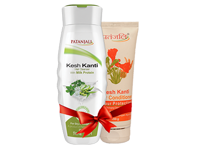 PATANJALI SHAMPOO & CONDITIONER COMBO ( HAIR CLEANSER MILK PROTEIN+ HAIR CONDITIONER COLOUR PROTECTION )