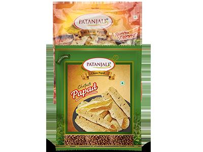 PATANJALI PAPAD COMBO ( Kali Mirch + Chana Dal Papad)