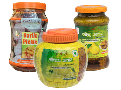 PATANJALI PICKLE COMBO (Amla + Lemon + Garlic Pickle)