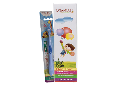 ORAL CARE COMBO(DANT KANTI JUNIOR DENTAL CREAM 100GM+JUNIOR TOOTH BRUSH)