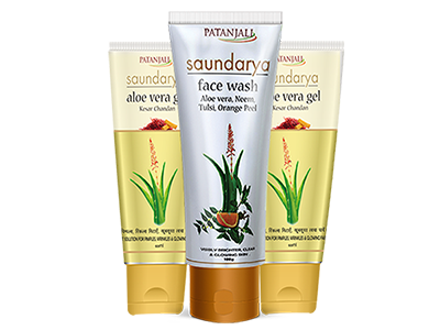 SAUNDARYA FACE WASH 100gm PLUS ALOEVERA GEL KESAR CHANDAN 60gm (PACK OF 2)