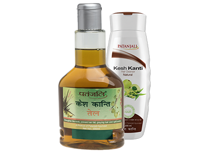 PATANJALI KESH KANTI OIL 300ml PLUS KESH KANTI NATURAL HAIR CLEANSER 200 ml