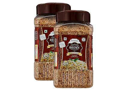BROWN BASMATI RICE JAR (Pack of 2)