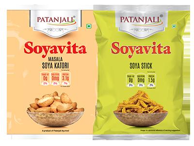 PATANJALI SOYAVITA- COMBO ( MASALA SOYA KATORI + SOYA STICK)