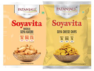 PATANJALI SOYAVITA- COMBO ( MASALA SOYA KATORI +  SOYA CHEESE CHIPS)