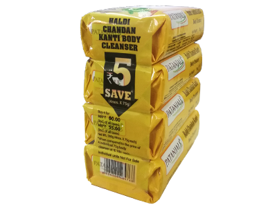HALDI CHANDAN KANTI BODY CLEANSER-(4X1) 75 GM