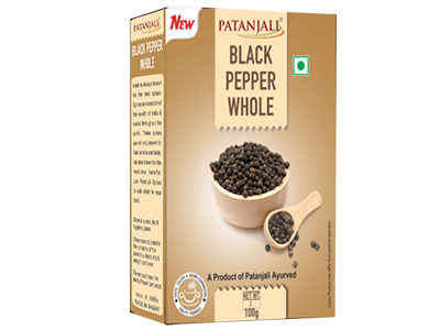 Patanjali Black Pepper Whole 100 gm - Buy Online