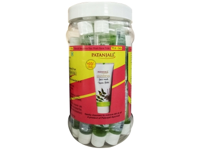 Картинки по запросу NEEM TULSI FACEWASH JAR By: PATANJALI