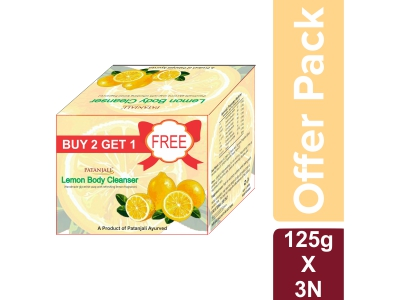 LEMON BODY CLEANSER  125*3 GM - OFFER PACK