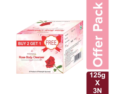 ROSE BODY CLEANSER  125*3 GM - OFFER PACK
