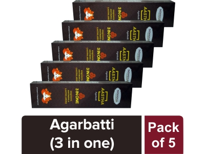 AASTHA 3 IN ONE AGARBATTI (Pack of 5)