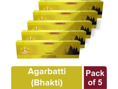 AASTHA AGARBATTI -BHAKTI 20 gm(Pack of 5)