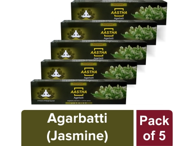 AASTHA AGARBATTI - JASMINE 20 gm (Pack of 5)
