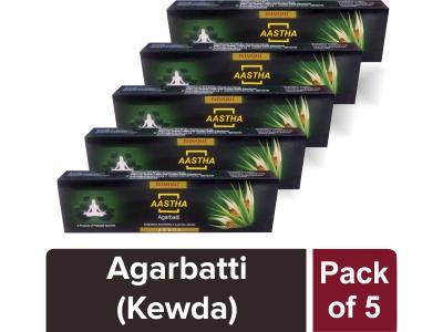 AASTHA AGARBATTI - KEWDA (Pack of 5)