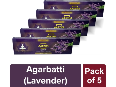 AASTHA AGARBATTI - LAVENDER  20 gm(Pack of 5)