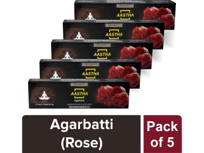 AASTHA AGARBATTI - ROSE (Pack of 5)