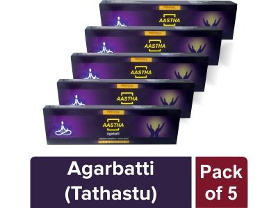 AASTHA AGARBATTI - TATHASTU (Pack of 5)