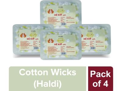 AASTHA COTTON WICKS HALDI (Pack of 4)