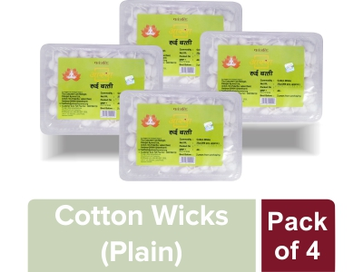 AASTHA COTTON WICKS PLAIN (Pack of 4)