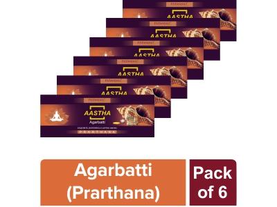 AASTHA AGARBATTI PRARTHANA - 25 GM (Pack of 6)