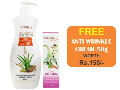 SAUNDARYA BODY LOTION (Get Anti WrinKle 50gm FREE**)