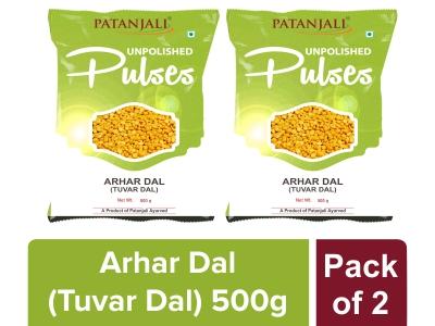 UNPOLISHED ARHAR DAL (TUVAR DAL) 500 gm Pack of 2
