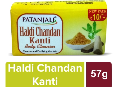 PATANJALI HALDI CHANDAN KANTI BODY CLEANSER  57 GM