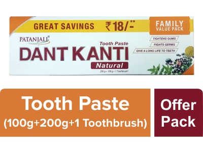 PATANJALI DANT KANTI NATURAL FAMILY VALUE PACK