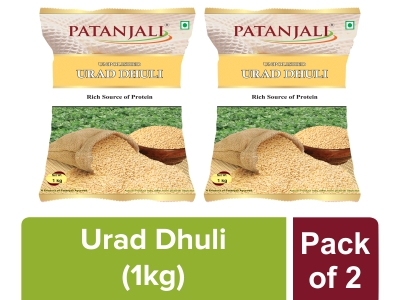 PATANJALI UNPOLISHED URAD DHULI 1 Kg (Pack Of 2)