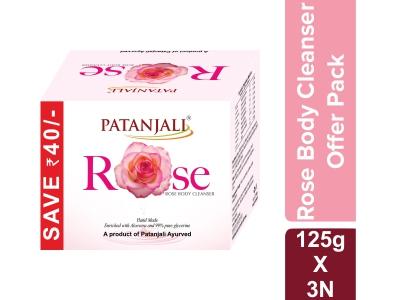 ROSE BODY CLEANSER  125*3 GM - OFFER PACK