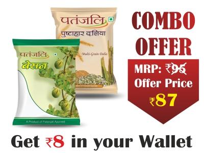 Combo- Pushtahar Daliya 500 gm + Besan 500 gm - Rs 8 Off