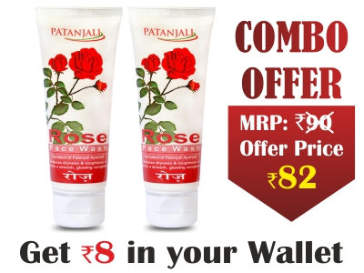 Combo-ROSE FACE WASH 60 gm(Pack of 2)- Rs 8 Off