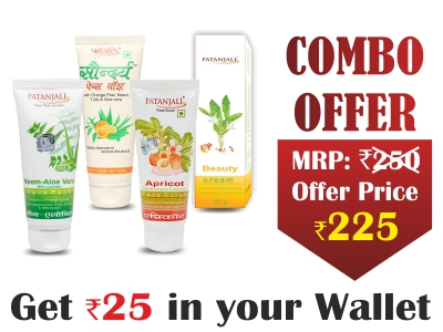 Beauty Combo- Saundarya Face wash 60ml+NEEM ALOEVERA WITH CUCUMBER FACE PACK 60gm+APRICOT FACE SCRUB 60gm+Beauty Cream 50 gm- Rs 25 Off