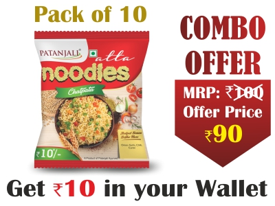 Pack of 10- Atta Noodles Chatpata 60gm- Rs 10 Off