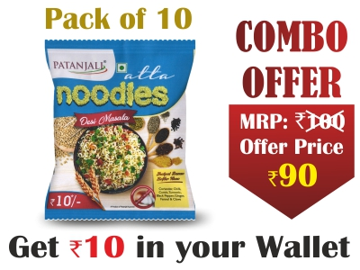 Pack of 10- Atta Noodles Desi Masala 60gm-  Rs 10 Off