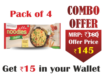 Pack of 4- Atta Noodles Chatpata 240 gm- Rs 15 Off