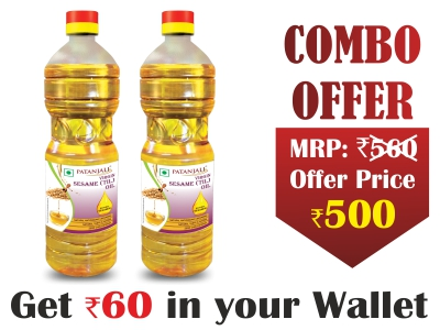 Pure Sesame oil 1 ltr (pack of 2)- Rs 60 Off