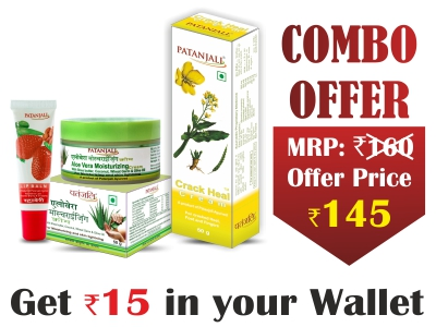 Complete Winter Skin Care Pack- CRACK HEAL CREAM 50 G+MOISTURIZER CREAM 50 G+LIP BALM (STRAWBERRY) 10 G- Rs 15 Off