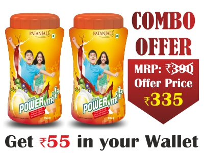 Combo- Patanjali Herbal Powervita Plus 500gm (Pack of 2) - Rs 55 Off
