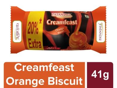 Patanjali Creamfeast Orange Biscuit